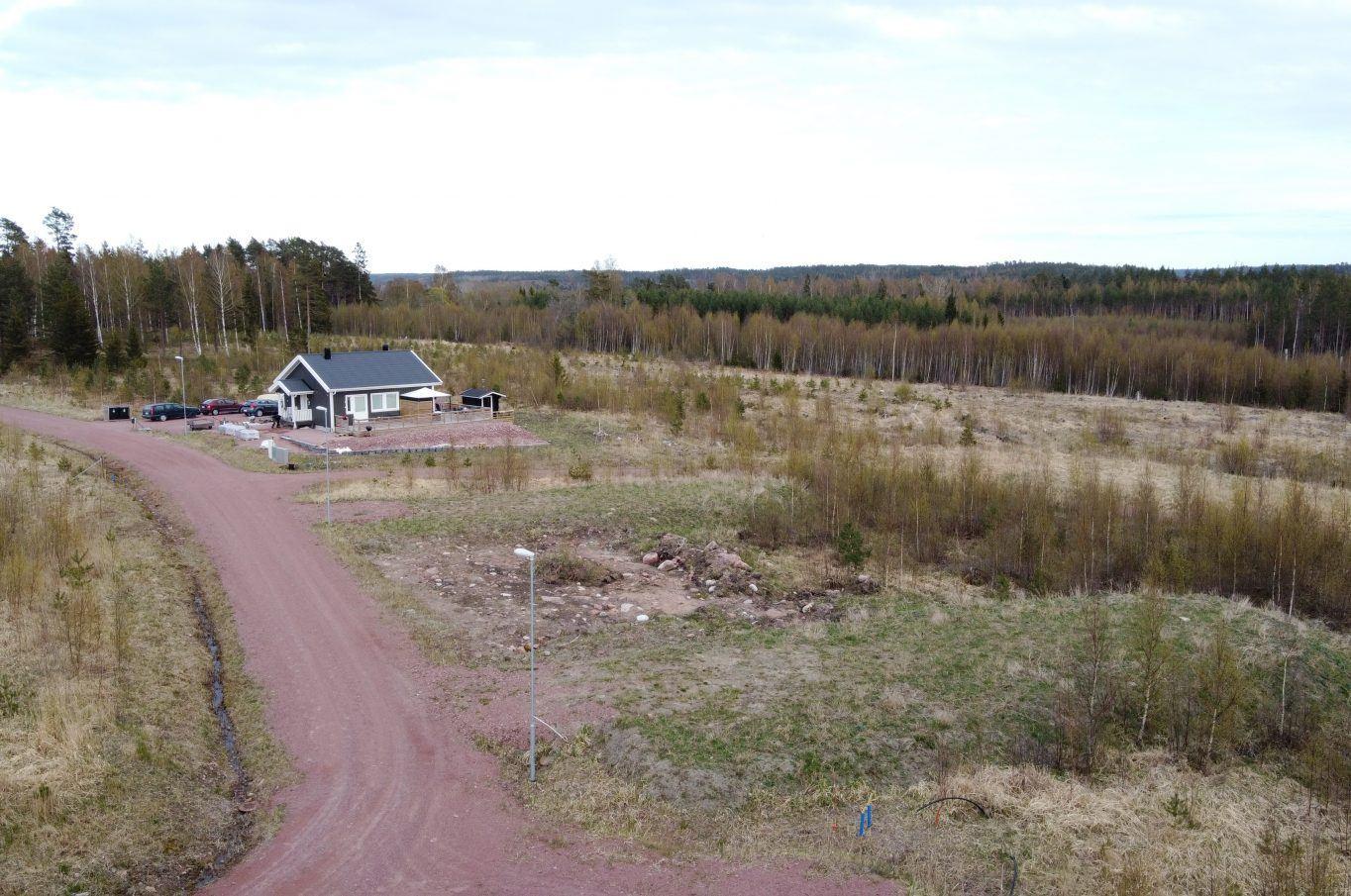Bostadstomt i området Solhöjden, Saltvik.