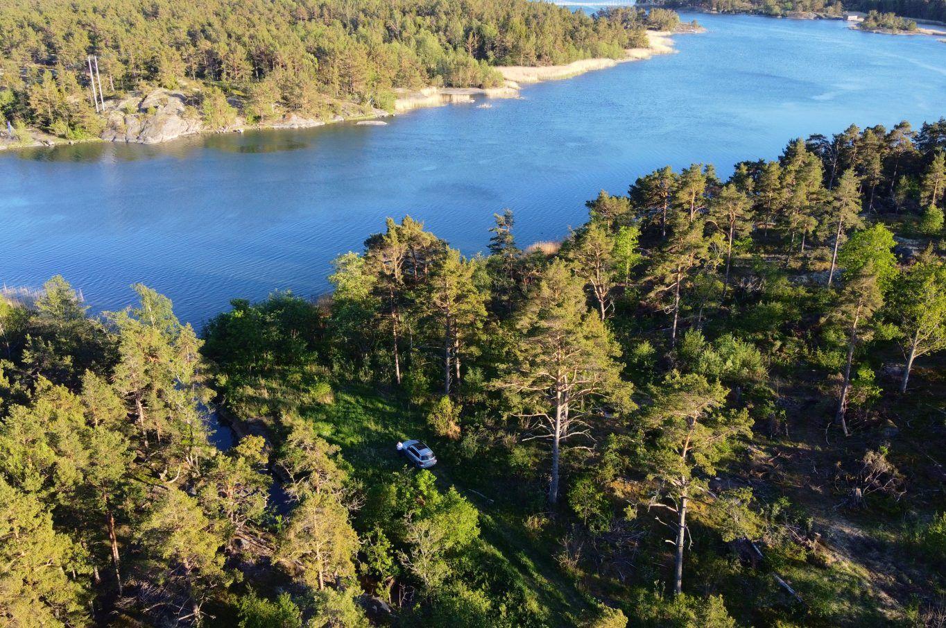 Vackert strandområde i Finholma, Föglö