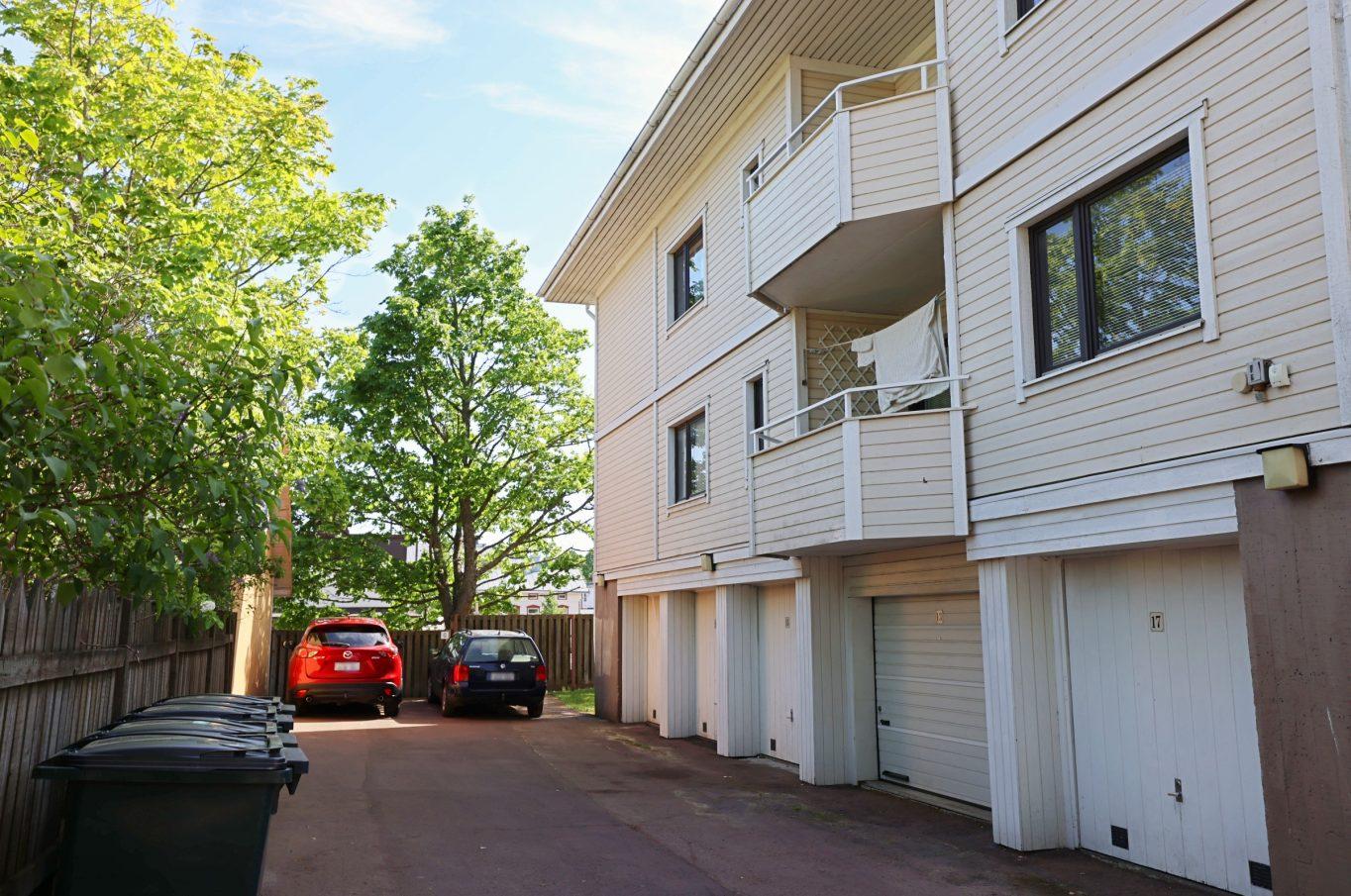 Garageplats vid Nygatan 15 A i Mariehamn.