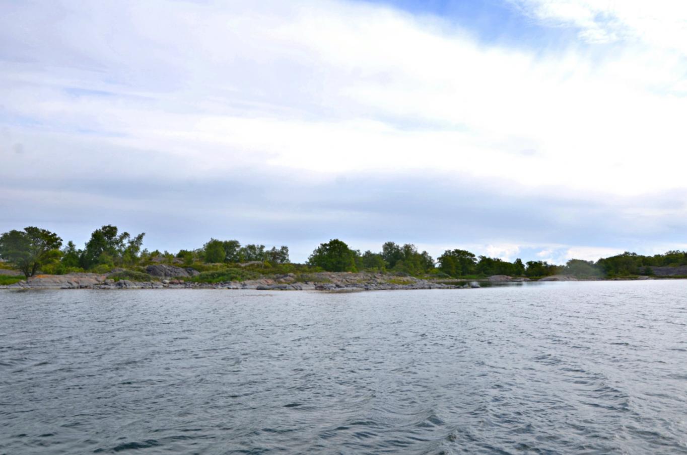 Strandområde på västra delen av holmen Räddarskär, Brändö